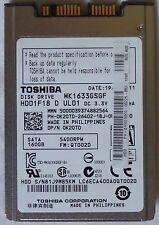 "1.8"" Toshiba 160GB 5400RPM 16MB cache SATA2 Internal Hard Drive MK1633GSGF"