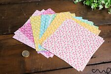 20 x Flower Patterned Origami Paper Double Sided 60gsm Mixed Paper 15cm Square