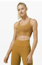 Lululemon 2 Energy Bra Long Line Ice Dye Wash Spiced Bronze Strappy Nulux