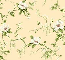 Wallpaper Designer Magnolia Vine White, Cream, Red on Beige