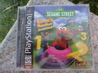 Sesame Street Elmo's Number Journey Sony PlayStation 1, 1999 Video Game Complete