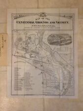 Map of Centennial Grounds, Phila. PA 1875 S. Crawford Smith, T. Hunter, Souvenir