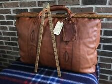 RARE VINTAGE 1970's XL BRITISH TAN BASEBALL GLOVE LEATHER DUFFLE BAG R	$1148