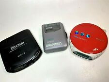 Sony Walkman LOT  D-131 CD Discman , Sony Psyc, Walkman WM-FX141 - Parts Only