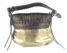 Francesco Biasia Golden Erin Large Leather Hobo Bag New with Tags