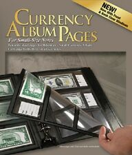 Harris 10 REFILL PAGES For Currency Album Modern USA Notes Banknotes 3 Pockets