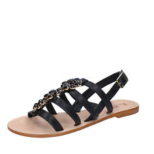 scarpe donna E... VEE 39 EU sandali nero pelle BY184-D