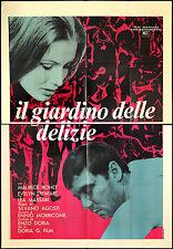 Das Filmplakat Garten der Freuden Stewart, Massari, Ronet, Agosti