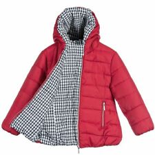 Mayoral Bambina Rosso & PIED DE POULE REVERSIBILE JACKET 3 anni