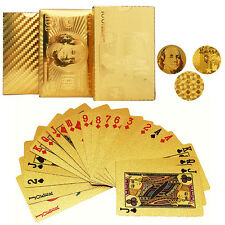 3 Style 24K Gold Foil Poker 54 Playing Cards For Casino Table Game Collector Toy
