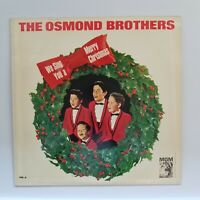The Osmond Brothers We Sing You A Merry Christmas MGM White Silent Night tub6