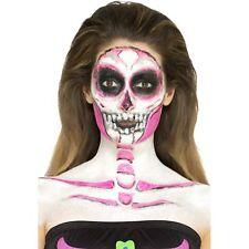Neon Skeleton Liquid Latex Make Up Kit Face Paints Fancy Dress Accessory