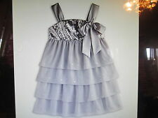 American Girl CL MYAG SILVER SHIMMER DRESS SIZE 10 for Girls NEW Gown