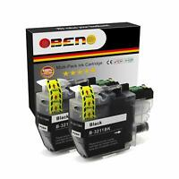 OBENO - 2 BK - LC3211 Cartouche LC3213 pour Brother LC3211, MFC-J890DW, MFC-J895