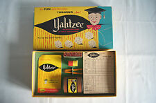 Yahtzee game of skill and chance 1961 complete dice ES Lowe extra scorepad