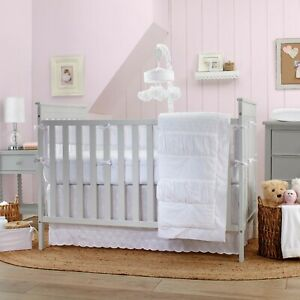 Carter's Lily 3 piece Baby Crib Bedding Set White eyelet -  See details 🌟
