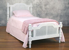 Single Bed French Provincial Plantation Style Mahogany Antiqued Kids Bed