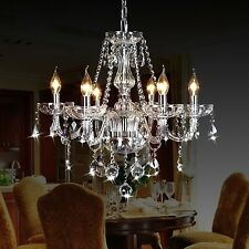 Ella Fashion Classic Vintage Crystal Candle Chandeliers Lighting 6 Lights Pen...