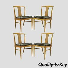 Set of 4 Thomasville Tamerlane Dining Side Chairs Mid Century Modern James Mont