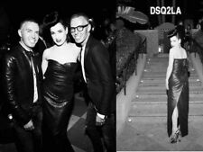 DITA VON TEESE BUSTIER BLACK SHINNY DRESS DSQUARED2 LIMITED EDITION 40 IT 36 FR