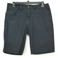 Levis Womens Black Button & Zip Cotton Stretch 515 Bermuda Casual Shorts Sz 8