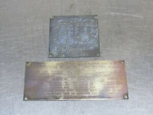 Data Plates for Dash Original Fits Willys M38 M38A1 jeep (O29)