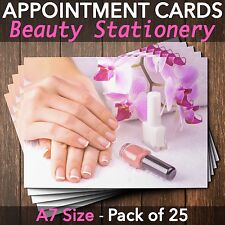 Appointment Cards for beauty salons,therapists, nail technicians Pack of 25