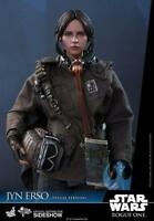 "Star Wars Rogue One Jyn Erso Deluxe 1/6th Scale Hot Toys 12"" Figure"
