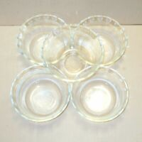 Pyrex Custard Cups Ramekins Dessert Clear Glass Bowls Set of 8 Scolloped 465 463