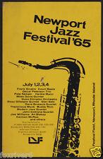 FRANK SINATRA Concert Handbill / Flyer - Newport Jazz Festival 1965 - reprint
