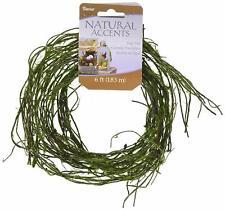 "Darice 14444B Floral Garland Twig Vine Flocked Moss 72"" Green"
