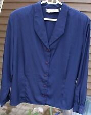 Women's Navy Blue Blouse by Josephine;  Size:  10