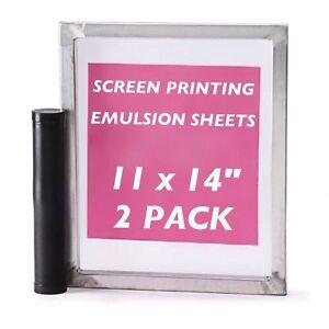 "Emulsion Sheets - 2 Pack - 11""x14"" DIY Yudu Style Screen Printing - (No mesh)"