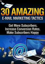 30 Amazing email Marketing Tactics PDF eBook with resale rights!