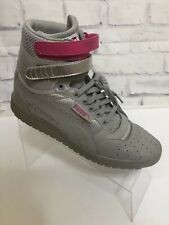 Puma Contact Sky Gray Silver Pink High Top Shoe Size 7.5