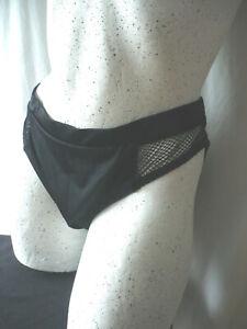 Bikinihose Bikiniunterteil  von Pour Moin in Schwarz Netz   in ca .XL neu