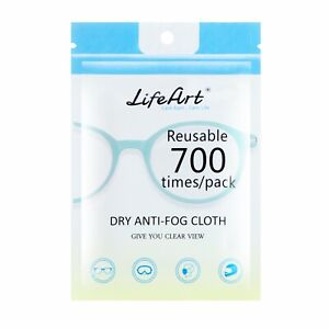 LifeArt Anti-Fog Wipes, Eyeglasses Cleaning Cloths, Cleaning Wipes