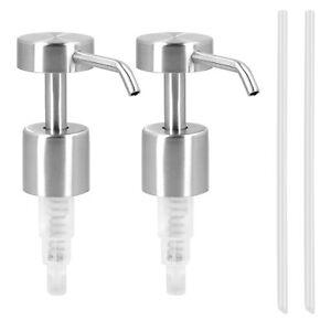 Seifenpumpe Dosierpumpe Pumpe Set aus Edelstahl 2x Aufsatz Pumpkopf Pumpspender