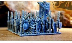 Warmaster undead skeleton warriors Amazing Detail Better Than GW Models by far