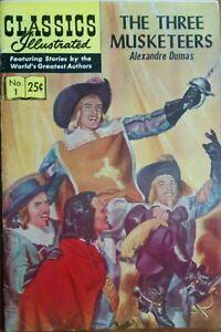 Classics Illustrated #1 1971 print The Three Musketeers BRONZE AGE GEMINI