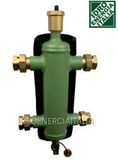 """separatore idraulico 1"""" completo di isolamento 4 bocchettoni 1"""" 1 sfiato 1 rubin"""