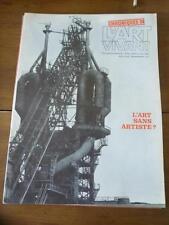 CHRONIQUES DE L'ART VIVANT N° 1 bis  - L'ART SANS ARTISTE ?  - 1969