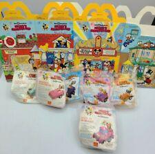 Mickey's Birthdayland McDonald's Happy Meal 3 Box SET & 6 TOYS! 1988 Disney