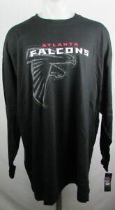 Altanta Falcons Mens Big & Tall Black Majestic L/S T Shirt NFL XLT-6XL