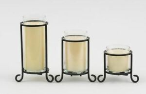 Yankee Candle Pillar Candle Scroll Holders Classic Black Scroll Design 3 Sizes