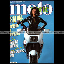 MOTO VERTE N°151-b JORDI TARRES RICKY JOHNSON HUSQVARNA 510 VIEILLES TIGES 1986