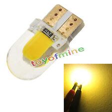 10 x T10 194 168 W5W COB 8 LED SMD CANBUS de sílice cálida Licencia bulbo blanco