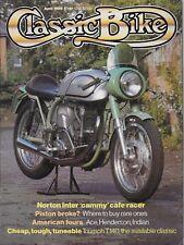 CLASSIC BIKE MAGAZINE - APRIL 1985 - 500cc NORTON INTER CAFE RACER [O]