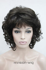 14 Colour Short Curly Wave Women ladies Daily Fluffy Hair Wig Hivision #E-1560A