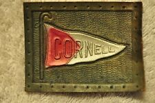Antique Tobacco Premium Leather College Pennant Patch Cornell! 100+ years old